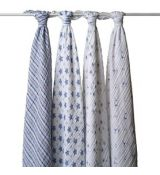 aden + anais® up, prince charming swaddle 4-pack